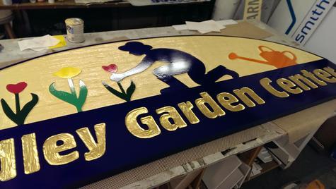 Hadley Garden Center After Hale Custom Signs