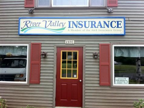 River Valley Insurance-all aluminum wall sign