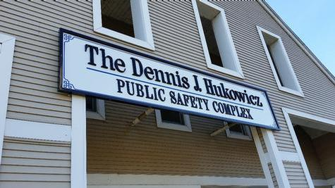 Public Safety Complex with dimensional letters