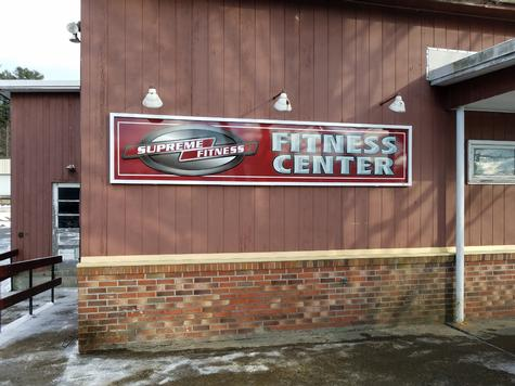 Supreme Fitness-aluminum wall sign with frame moldings