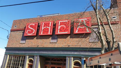 SHEA Theater Aluminum signs with steel framework